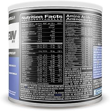 High Protein 91%, alto contenido de proteínas del 91%, menos del 1% de grasa, 1% de carbohidratos, proteína en polvo de suero de leche y caseína, no ...
