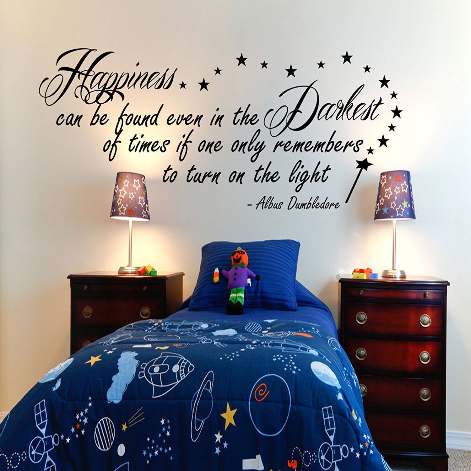 Harry Potter Happiness Can Be Found Dumbledore Inspirational Wall Sticker  Quote 100x55: Amazon.co.uk: Kitchen U0026 Home