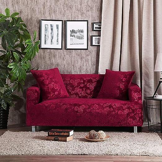 Velvet Plush Form Fit Stretch Box Cojín Protector Sofa ...
