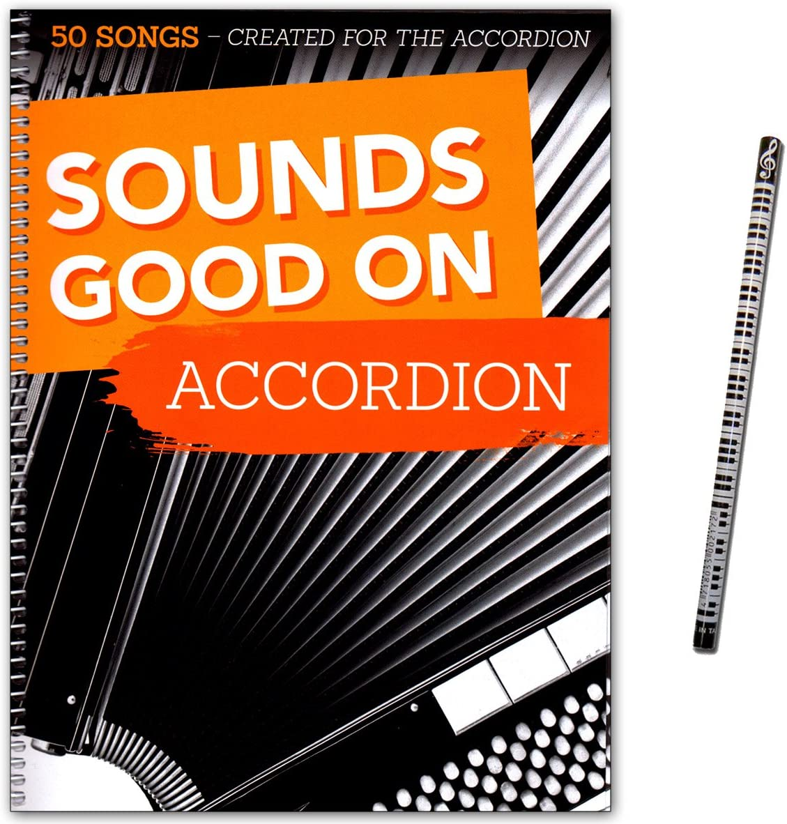 Sounds Good On Accordion, 50 Canzoni Scritte Per Fisarmonica, Con Matita Con Piano