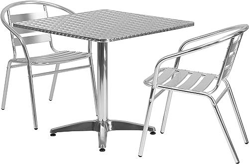 Flash Furniture 31.5'' Square Aluminum Indoor-Outdoor Table Set