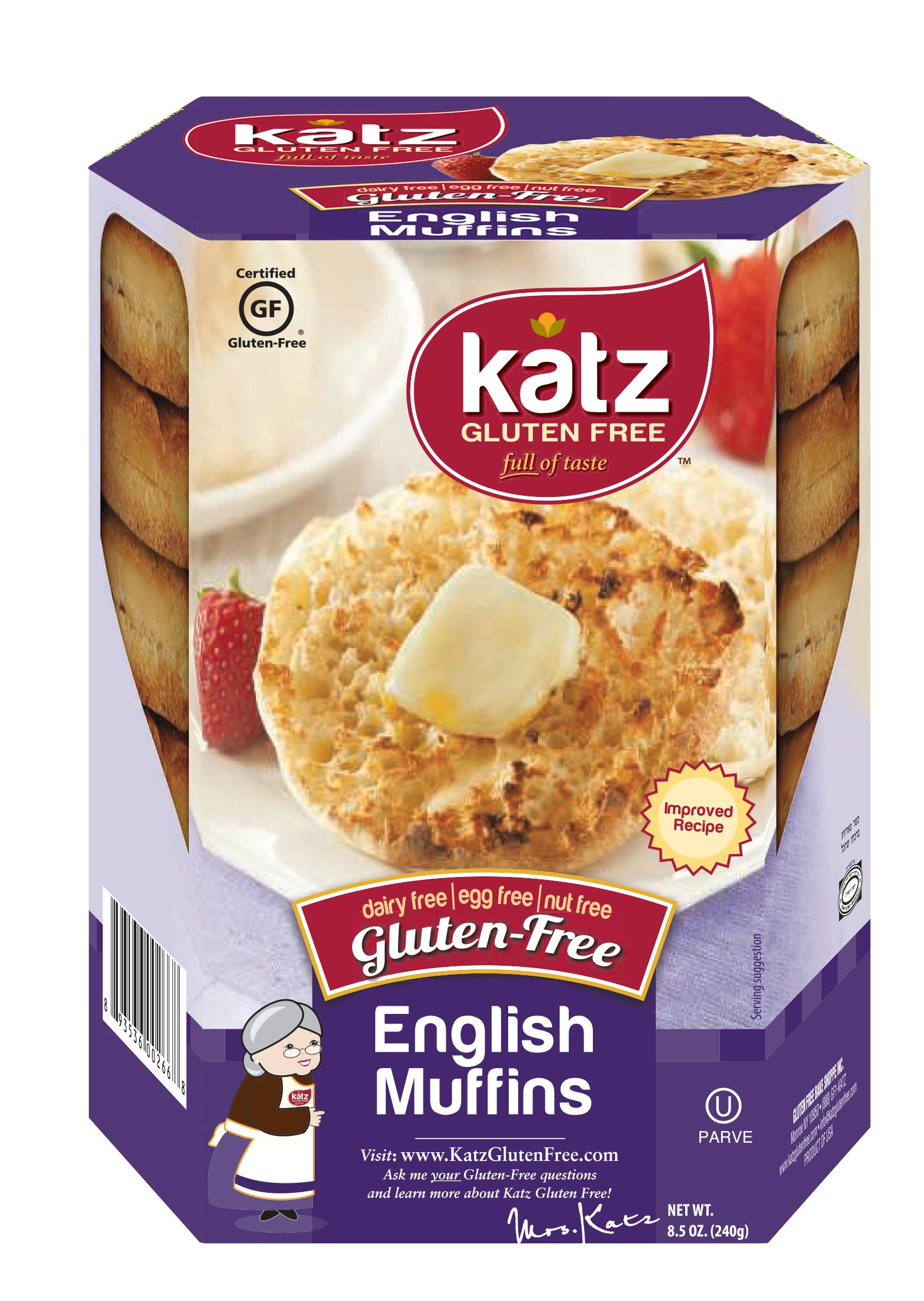 Katz Gluten Free English Muffins 8.5 Ounce (Pack of 1)