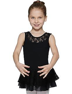 db76b9d3f Amazon.com  MdnMd Girls  Lace Skirted Camisole Leotard  Clothing