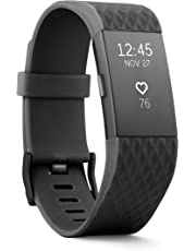 Fitbit Charge 2 Heart Rate + Fitness Wristband, Special Edition, Gunmetal, Large