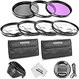 Neewer®58MM Profesional lente filtro y primer plano Macro accesorio Kit para Canon EOS 400D / Xti; 450 D / Xsi; 1000D / XS; 500D/T1i; 550D / T2i; 600D/T3i; 650D/T4i-700D/T5i; 100D-1100D; Nikon Sony Samsung Fujifilm Pentax y otras lentes de cámara réflex digital con rosca de filtro de 58MM - incluye Kit de filtro (UV, CPL, FLD) + Set de primer plano Macro (+ 1, + 2, + 4, + 10) + filtro llevando bolsa + parasol flor del tulipán centro pizca tapa con tapa Keeper Correa + microfibra paño de limpieza