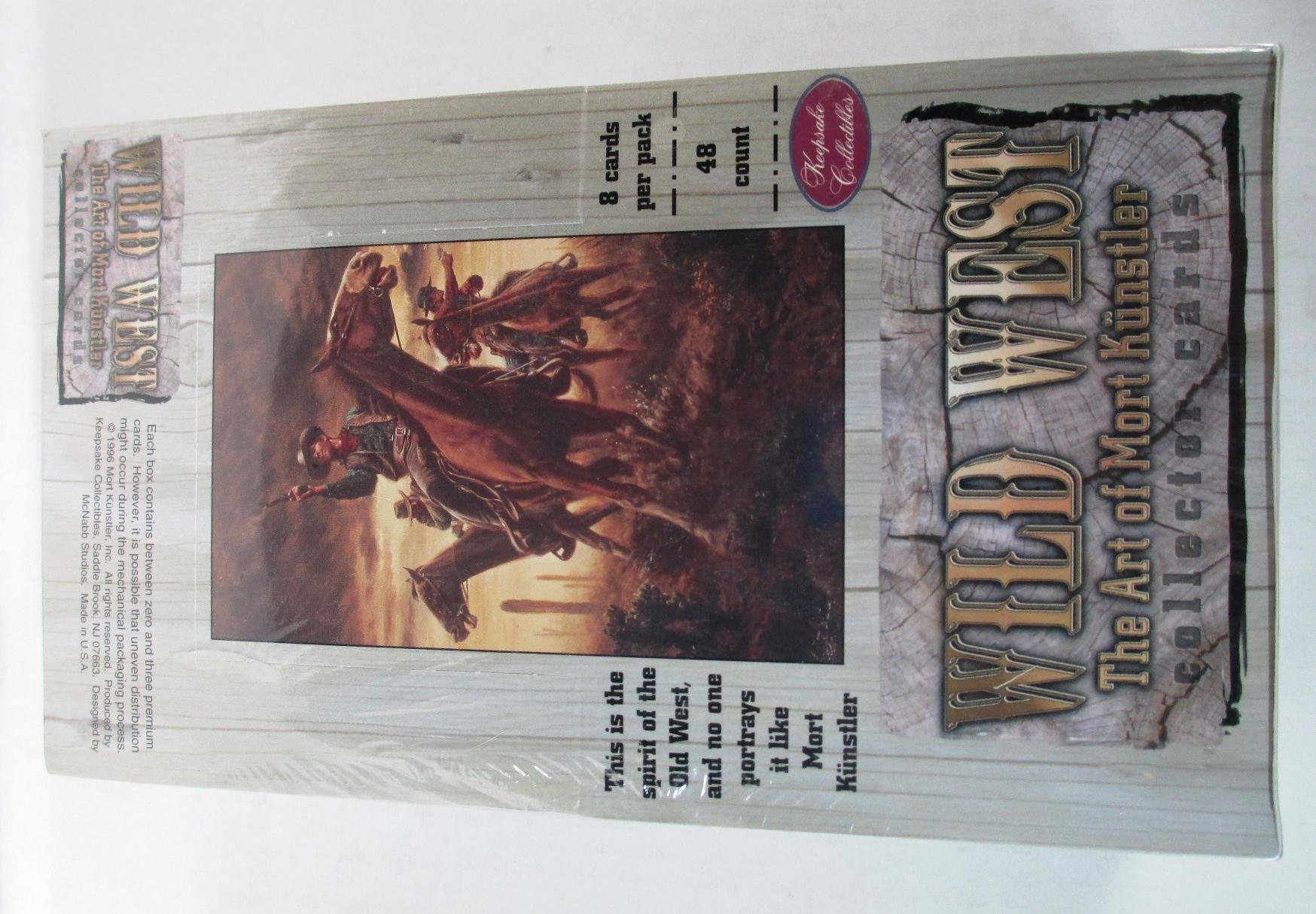 Wild West The Art of Mort Kunstler Trading Cards Box Set - 48 Packs by Mort Kunstler
