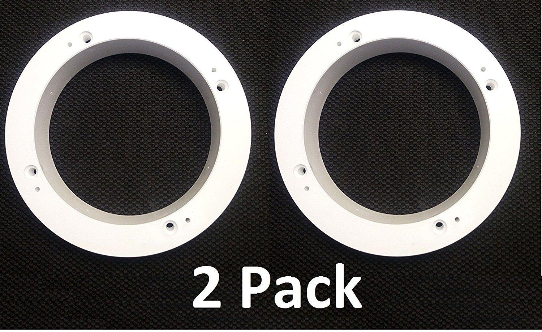 JSP Manufacturing 2 Pack of White 1' Plastic Depth Ring Adapter Spacer for 5.25'- 6' Car Speaker USA