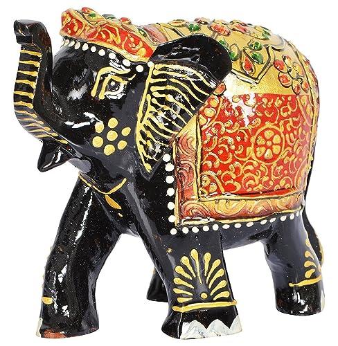 RAJKRUTI WOODEN ELEPHANT DECOR SHOWPIECE FIGURINES DECORATION FOR LIVING  ROOM OFFICE DECORATIVE SHOW PIECES TABLE DECOR