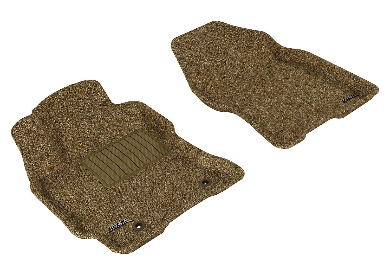 Classic Carpet Tan 3D MAXpider Front Row Custom Fit Floor Mat for Select Toyota Prius Models