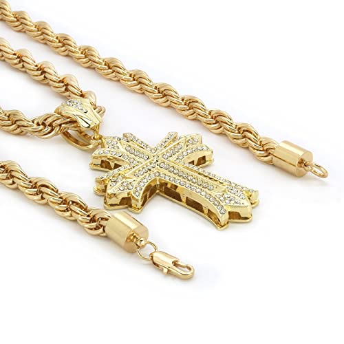 Mens medallion pattern medusa gold plated greek 24 rope chain mens medallion pattern medusa gold plated greek 24quot rope chain pendant necklace aloadofball Gallery