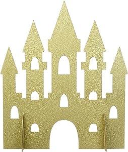"""amscan Unique 58378 Gold Sparkle Castle Party Centerpiece 1 ct 14"""""""