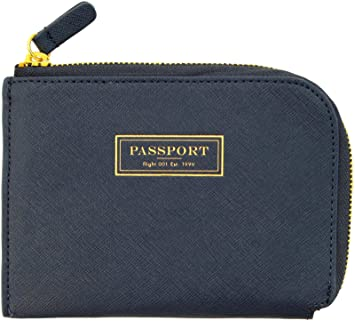 5d8318139e1 FLIGHT001 Correspondent Passport Wallet - Navy  Amazon.in  Bags ...