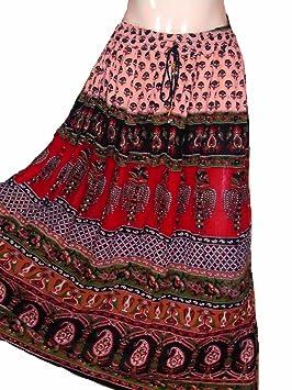 1 – 7 Patio Tribal Gitano Maxi niveles falda danza del vientre ...