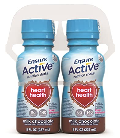 Ensure Active Heart Health Milk Chocolate Shake, 8 Ounce, 16 Count