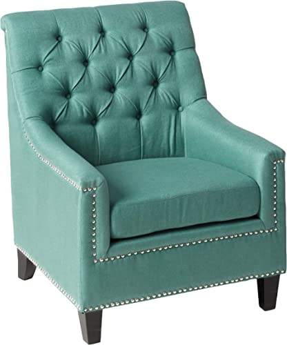 Christopher Knight Home Jaclyn Fabric Tufted Club Chair, Dark Teal