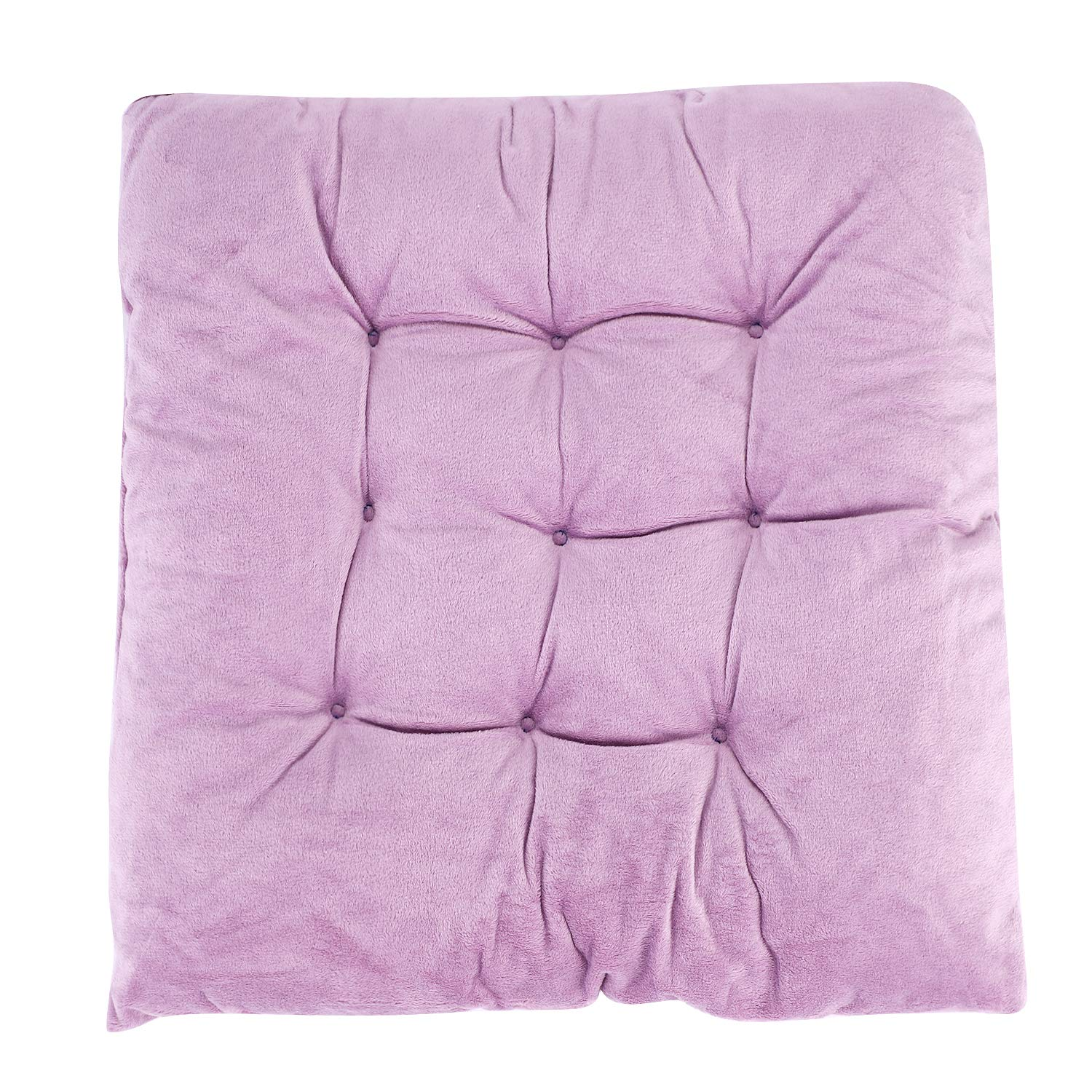 Comfortable and Breathable QCHOMEE Crystal Velvet Seat Cushion Soft Indoor Home Garden Patio Home Cushion Kitchen Office Square Cotton Buttocks Chair Pads
