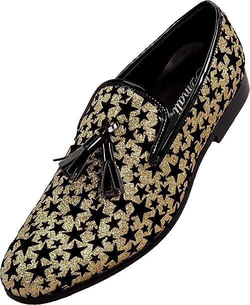 Diamond Loafer,Glitter Christmas Prescent  East Mens Slip-on Shoes