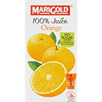 MARIGOLD 100% Juice, Orange, 200ml, (Pack of 24)