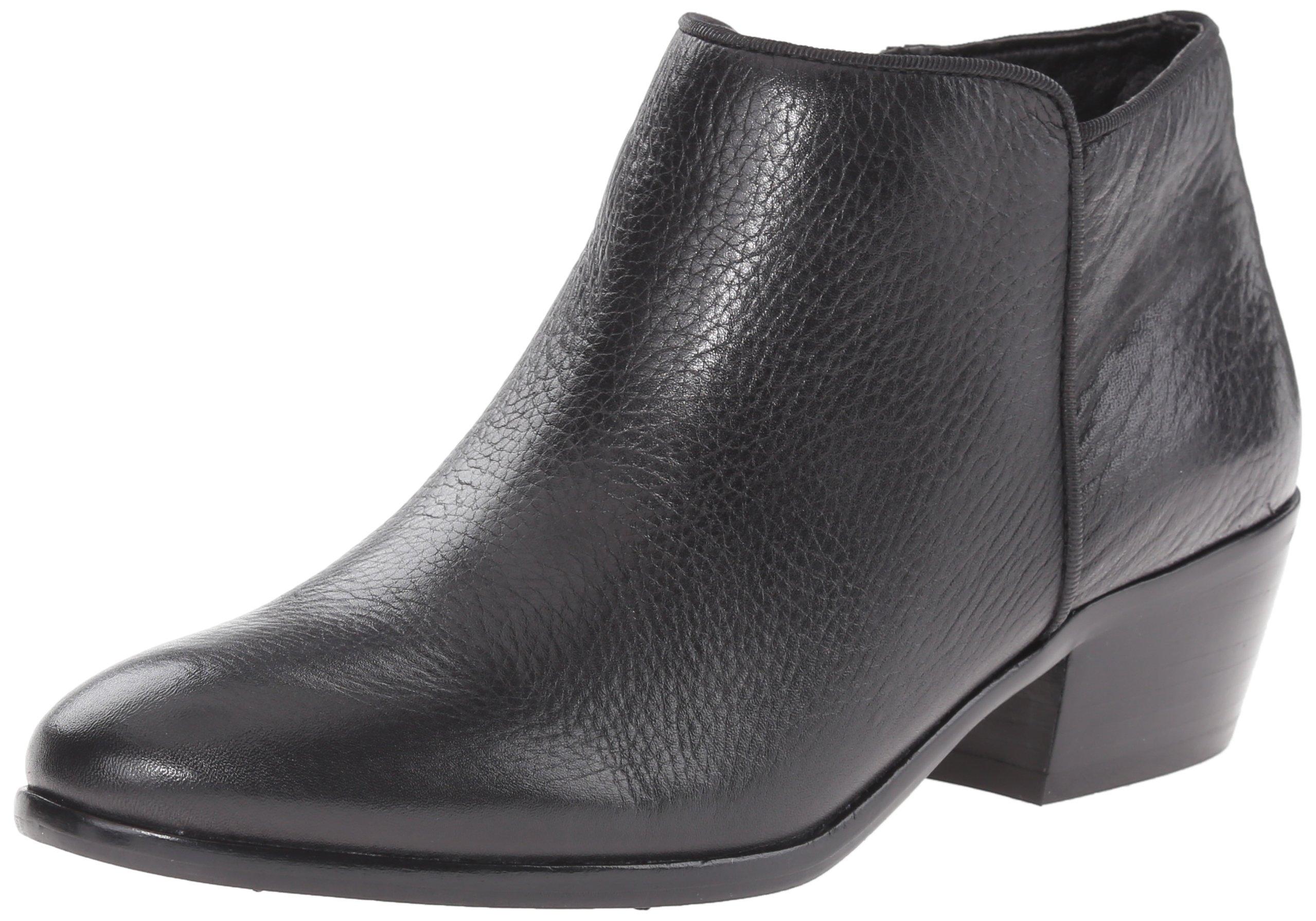 Sam Edelman Women's Petty Ankle Bootie, Black Leather, 6.5 M US