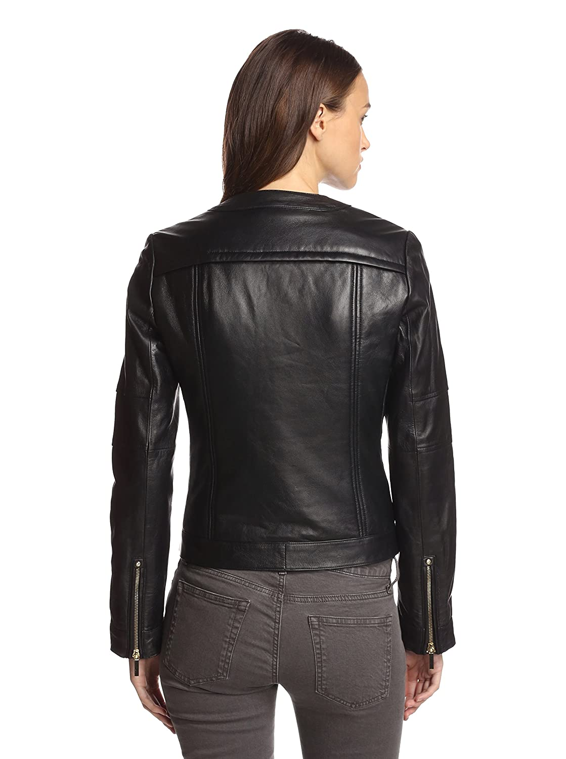 Laundry By Shelli Segal Womens Quilted Leather Jacket