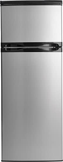 Amazon Com Danby Dpf073c1bsldd Designer 7 3 Cu Ft Two Door Apartment Size Refrigerator Steel Appliances