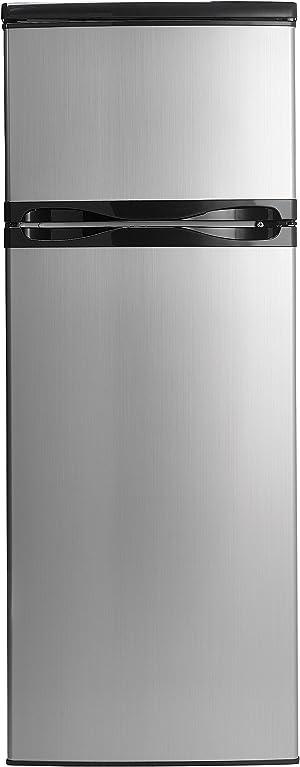 Danby DPF073C1BSLDD Designer 7.3 cu.ft. Two Door Apartment Size Refrigerator, Steel