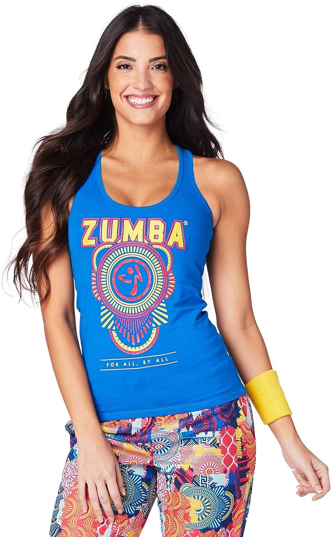 Zumba Chemise sans Manches avec col pour la Mode pour Femme