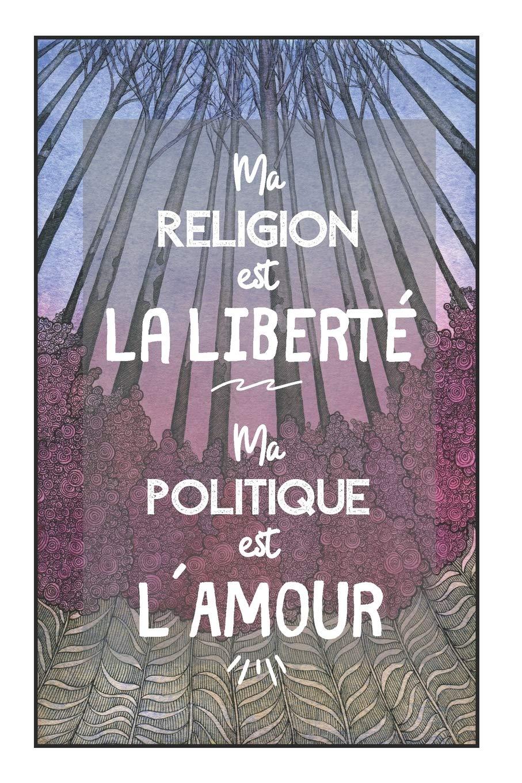 CarDe Notes   Ma Religion Est La Liberté, Ma Politique Est L