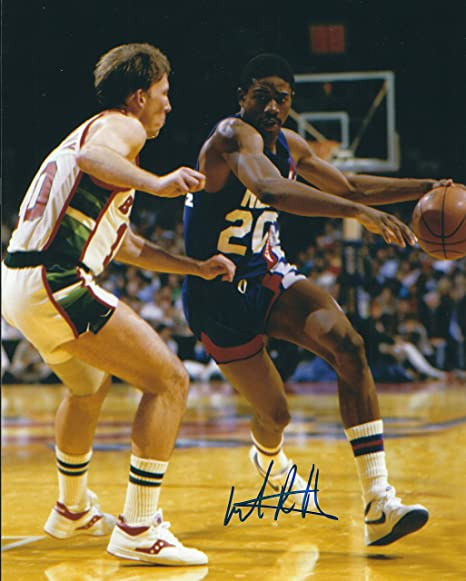 0edc5a3a6d46 Image Unavailable. Image not available for. Color  Autographed Micheal Ray  Richardson 8x10 New Jersey Nets Photo