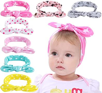 10Pcs Colorful Newborn Toddler Baby Girls Boys Flower Headband Fashion Head Wrap