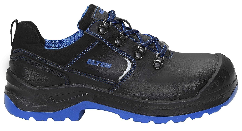 Gr/ö/ße 34 Damen ELTEN Sicherheitsschuhe LENA black-blue Low ESD S3 Stahlkappe leicht Lederschuh robust Schwarz