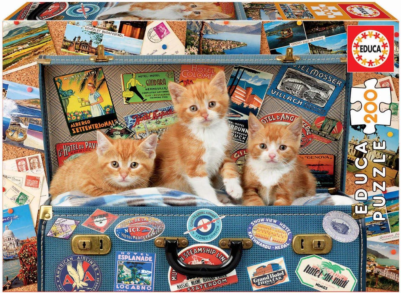 Educa 200 piezas, puzzle infantil Gatitos Viajeros, color variado ...