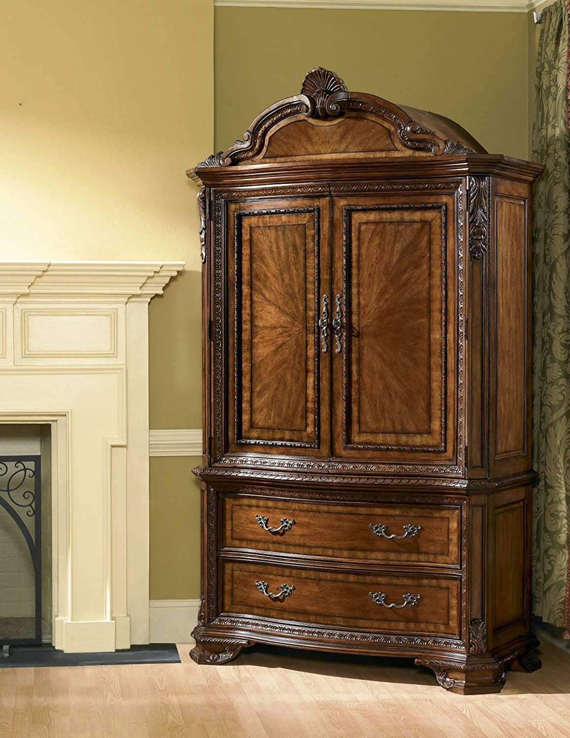 A.R.T. Old World Armoire Complete in Warm Pomegranate
