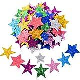 Pegatina de Espuma Brillante Pegatina de Estrella Autoadhesiva para Decoración de Fiesta de Halloween Navidad, Colores y…