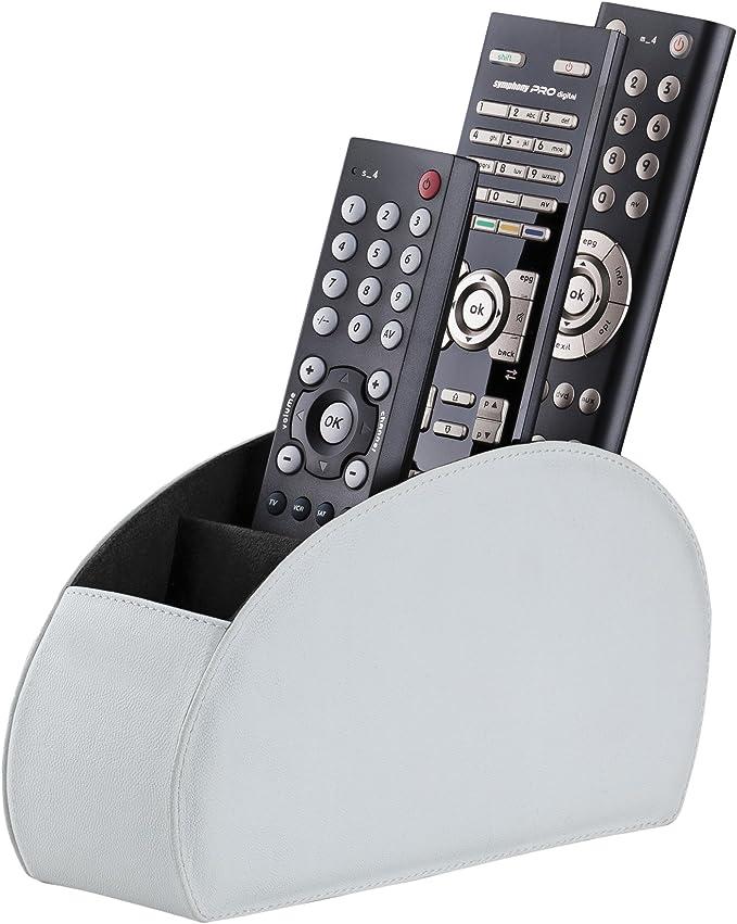 Connected Essentials - Soporte para Mando a Distancia (5 Compartimentos), Color Blanco: Amazon.es: Electrónica