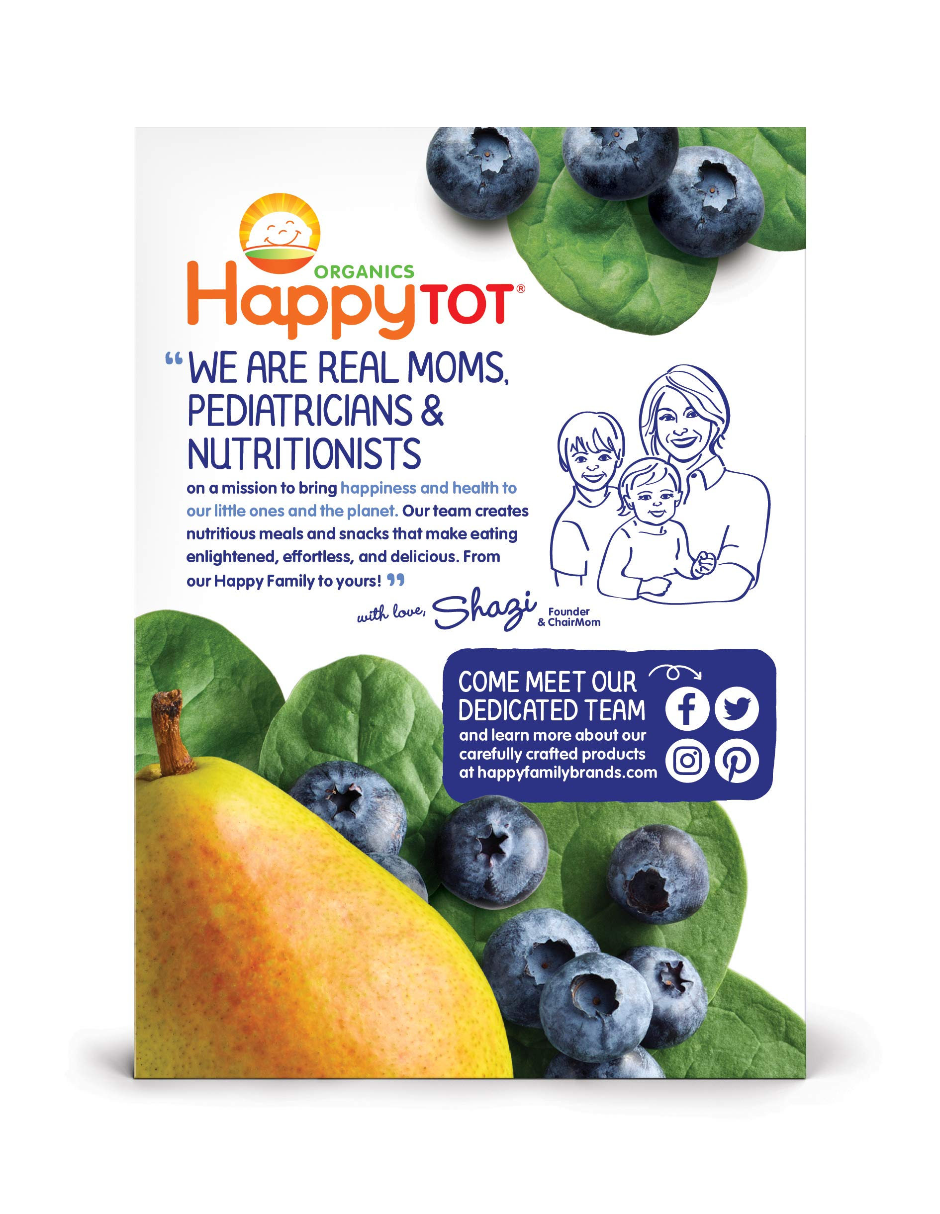 Happy Tot Organic Stage 4 Fiber & Protein, Pears, Blueberries & Spinach, 4 Ounce (Pack of 16) by Happy Baby (Image #6)