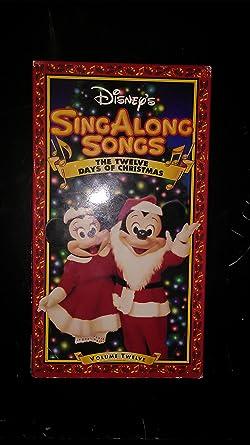 Disney Sing Along Songs Christmas Vhs.Amazon Com Sing Along Songs The Twelve Days Of Christmas