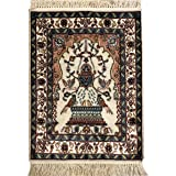 Amazon Com Camel Carpet Ivory Hand Knotted Silk Wool Area