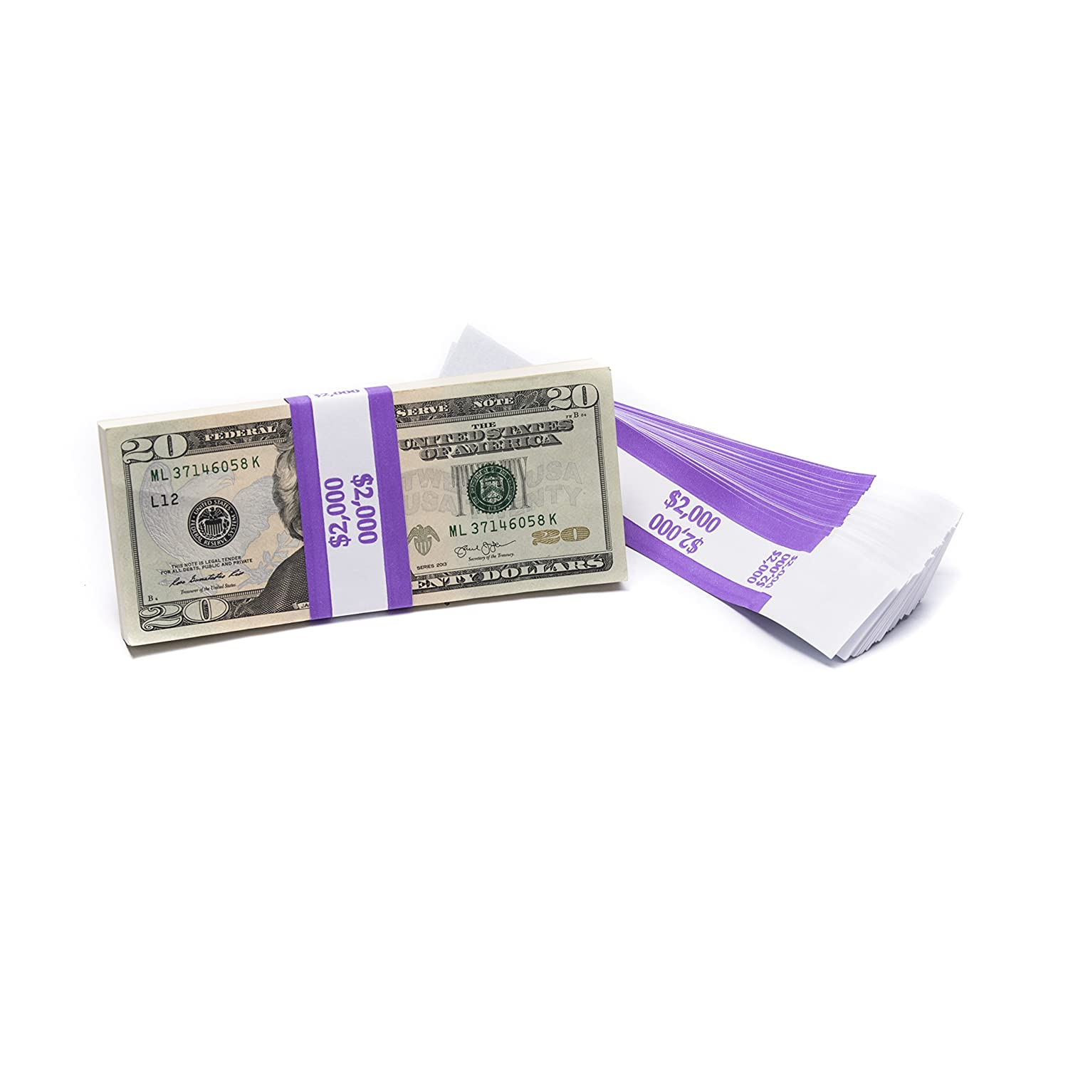Barred ABA $2,000 Currency Band Bundles (2,000 Bands)