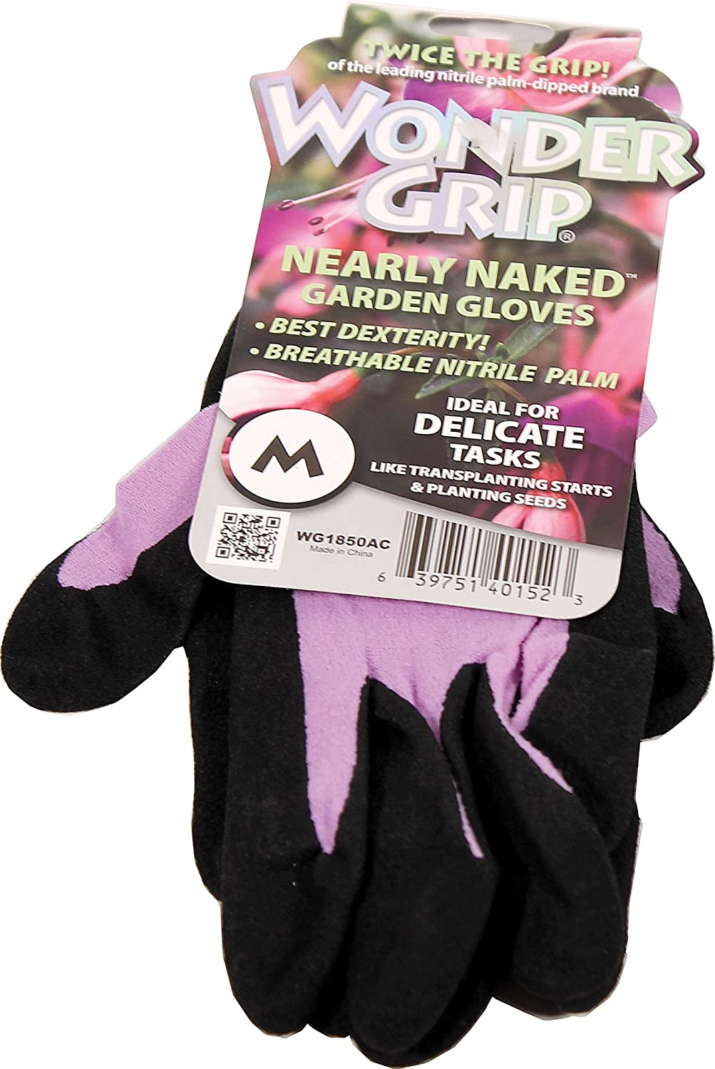 Wonder Grip Nearly Naked Gloves, Medium, Assorted Colors