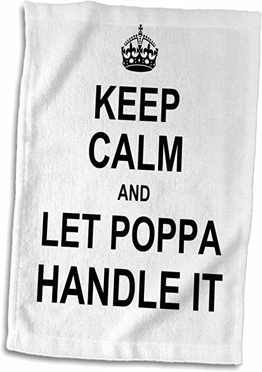 15 x 22 3D Rose Keep Calm and Let Nana Handle It-Fun Funny Grandma Grandmother Gift Hand Towel