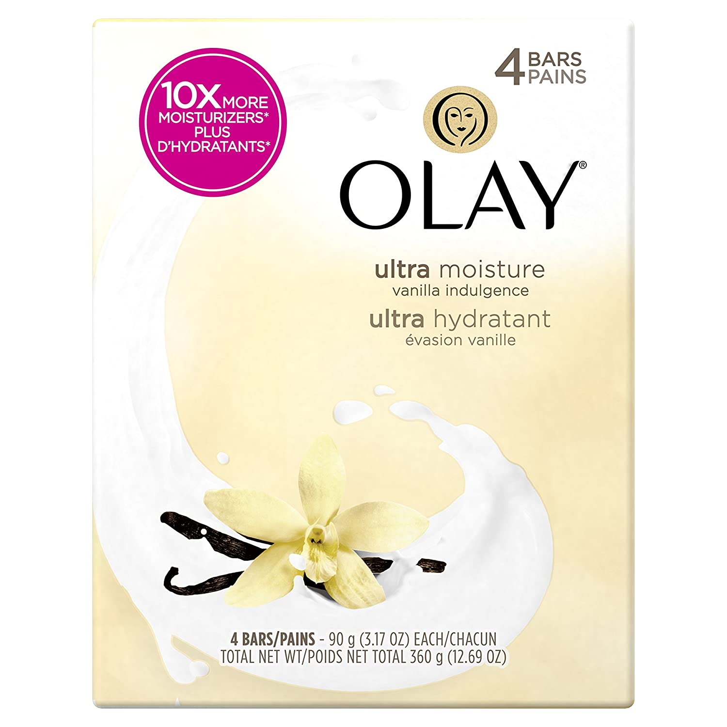 Olay Moisture Outlast Beauty Bar 90g, 4 Count Procter and Gamble