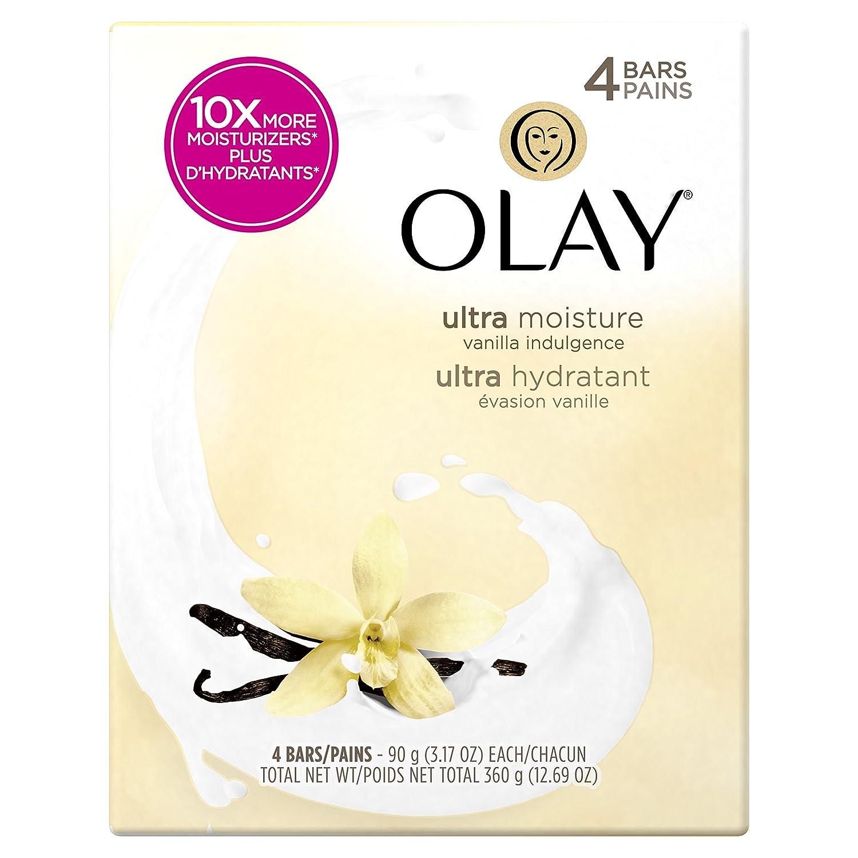 Olay Moisture Outlast Ultra Vanilla Indulgence Beauty Bar 90g, 4 Count Procter and Gamble
