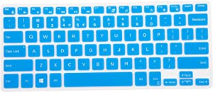 "Leze - Ultra Thin Silicone Laptop Keyboard Cover Skin Protector for 11.6"" Dell Inspiron 11-3162 11-3168 11-3169 11-3179 i3162 i3168 i3169 i3179 Laptop - Blue"