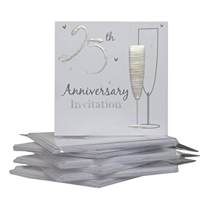 25th Silver Wedding Anniversary Party Invitations 36 Cards With Envelopes By Simon Elvin