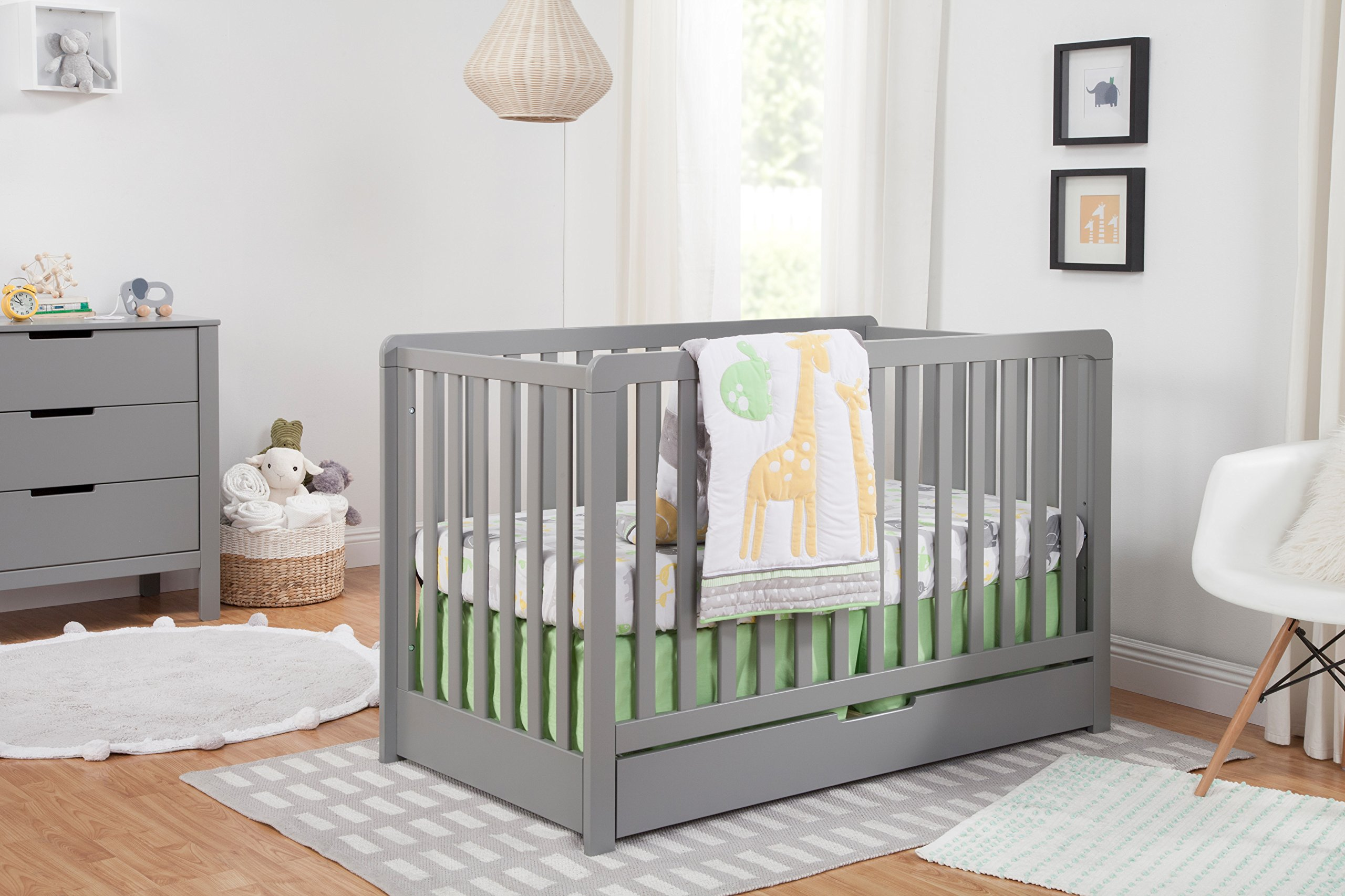 carter 39 s by davinci colby 4 in 1 convertible crib with trundle drawer grey 48517822371 ebay. Black Bedroom Furniture Sets. Home Design Ideas