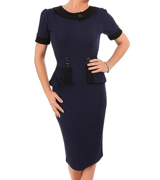 a85262dcbf Blue Banana Women s Peplum Dress  Amazon.co.uk  Clothing