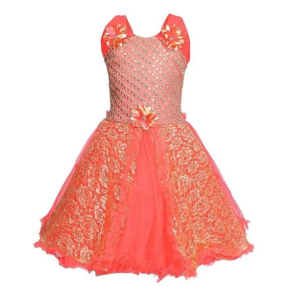 aa5ead7240c9 KBKIDSWEAR Net Fabric Party wear Frock Dress for Girl  Amazon.in ...