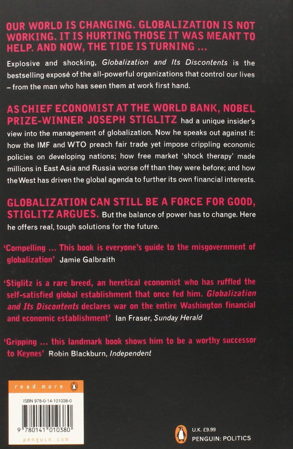 Globalization and Its Discontents: Amazon.co.uk: Joseph Stiglitz ...