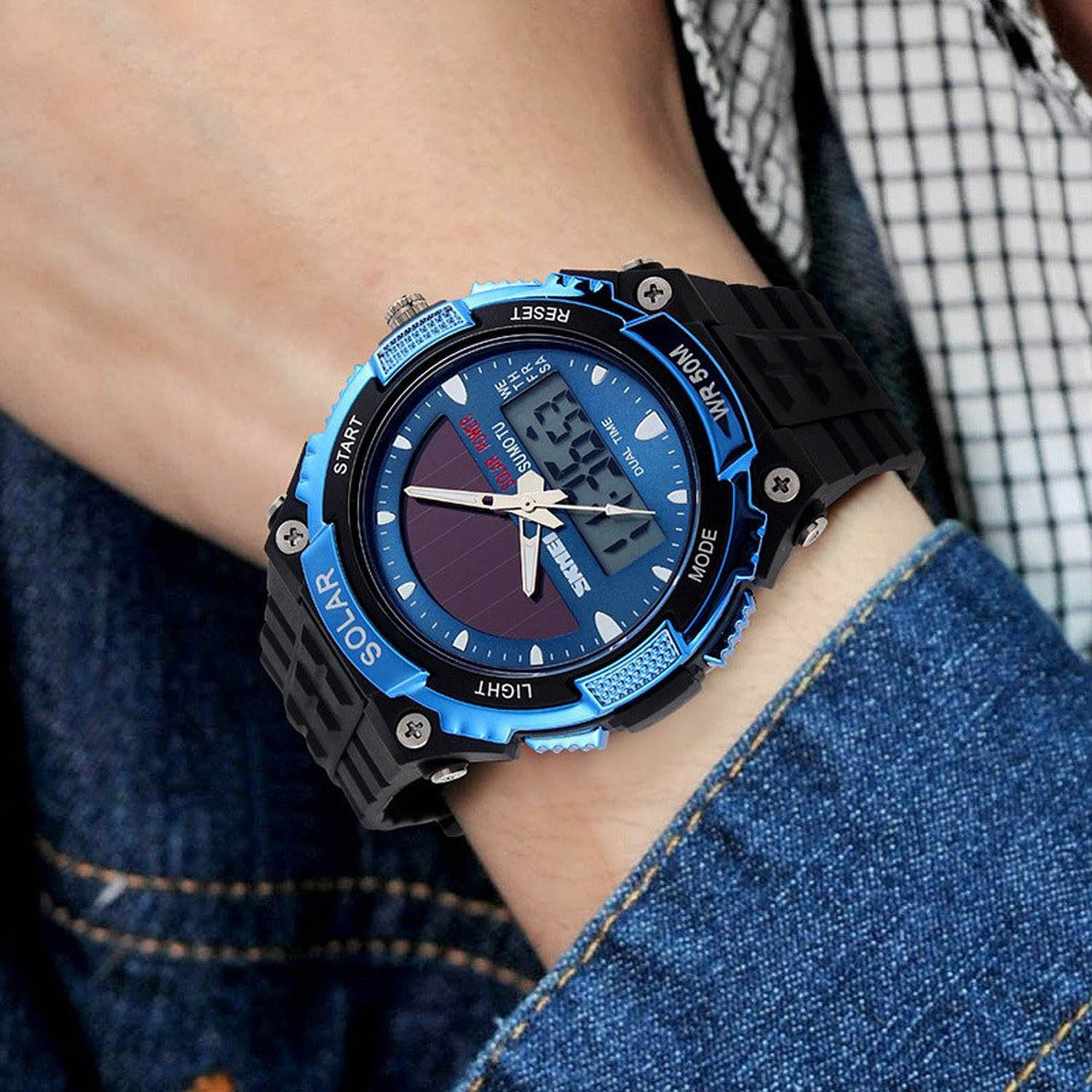 amazon outdoor watch watches military men dp blue com power multifunctional sport gosasa solar waterproof